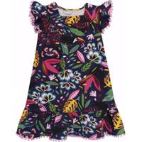 Vestido Infantil Momi Rotativo Tropic Fantasy - Feminino