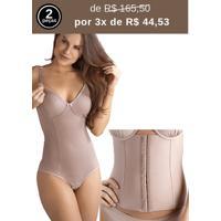 Kit Body Amamentação E Cinta Modeladora Abdominal