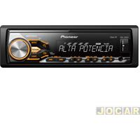 Auto Rádio Mp3 Player - Pioneer - Usb/Wma/Mixtrax-Cr/Interface P/ Android - Cada (Unidade) - Mvh-X288Fd