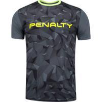Camisa Com Proteção Solar Uv Penalty Geométrica - Masculina - Cinza Escuro