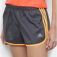 Short Adidas M20 Feminino - Feminino-Cinza+Amarelo