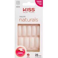 Unhas Postiças Kiss New York Salon Naturals Tamanho Quadrado Longo Ksno4Br Com 28 Unidades