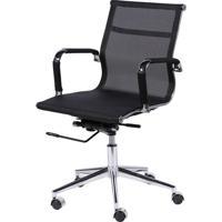 Cadeira Office Eames Em Tela- Preta- 97X61X47Cm-Or Design