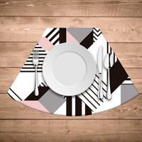 Jogo Americano Para Mesa Redonda Wevans Geométric
