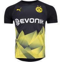 Camisa Pré-Jogo Borussia Dortmund 19/20 Puma - Masculina - Preto
