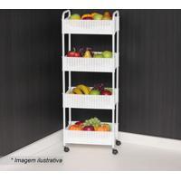 Fruteira Decorativa- Branca- 94X35X22,5Cm- Metalmetaltru
