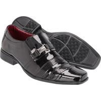 Sapato Social Couro Ecologico Kaatha Verniz Masculino - Masculino