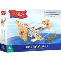 Blocos De Montar - Avião Thunderbird - Funtastik