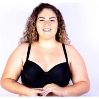 Sutiã Bojo Plus Size Gatria Reforçado Satin Feminino - Feminino-Preto