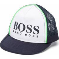 Boss Kids Boné Com Recorte De Mesh - Azul
