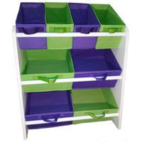 Organizador Organibox De Brinquedo Violeta E Verde Limã£O Mã©Dio - Verde - Dafiti