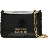 Versace Jeans Couture Bolsa Tiracolo Com Logo - Preto