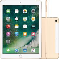 """Tablet Apple Ipad 5º Geração 9.7"""" 32Gb Wi-Fi + Cellular Dourado Mpg42B"""