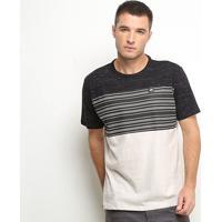 Camiseta Hd Especial Stripes Masculina - Masculino-Bege
