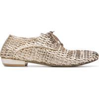 Marsèll Sapato Metalizado Com Amarração - Dourado