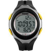 Relógio Pedômetro Skmei Digital - Unissex-Preto