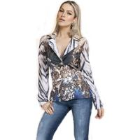 Blazer Energia Fashion Animal Tie Dye Azul