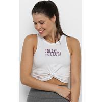 Regata Colcci Fitness Feminina - Feminino-Branco