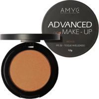 Pó Compacto Fps 50 Advanced Make Up Amyc Uniformizador Bronze 12G - Unissex-Incolor