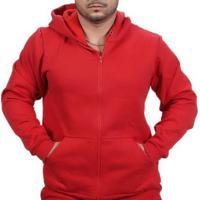 Blusa Ramazzoni Frio Moletom Ziper Masculina - Masculino-Vermelho