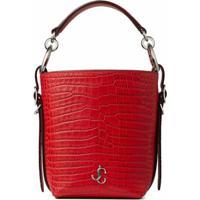 Jimmy Choo Red Crocodile-Effect Tote Bag - Vermelho