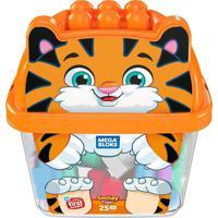 Mega Bloks Balde De Animais Tigre - Mattel