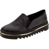 Sapato Flatform Preto/Croco Beira Rio