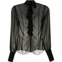 Andrea Bogosian Camisa Rosario Couture De Seda - Preto