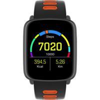 Smartwatch Com Monitoramento Cardíaco Qtouch Touch Screen Bluetooth P