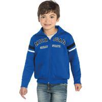 Jaqueta Infantil De Moletom Azul