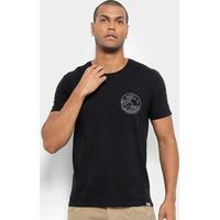 Camiseta Jab Estampa Onda Waves Masculina - Masculino-Preto