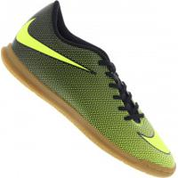 Chuteira Futsal Nike Bravata X Ii Ic - Adulto - Preto/Verde Cla