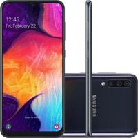 "Smartphone Samsung Galaxy A50 128Gb 6.4"" 4Gb Ram Câmera Traseira Trip"