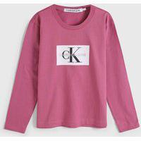 Blusa Calvin Klein Kids Infantil Logo Rosa