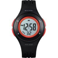 Relógio Infantil Skmei Digital Masculino - Masculino-Preto+Vermelho