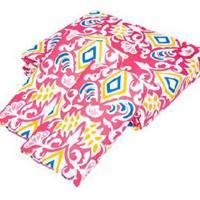 Kit Teka Casal Colcha + Porta Travesseiro Rosa Estampada Brenda - 90 Fios - Multicolorido - Dafiti