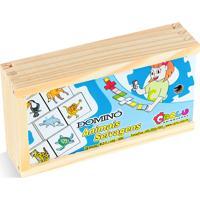 Jogo Educativo Carlu Brinquedos Domino Animais Branco
