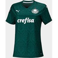 Camisa Palmeiras I 20/21 S/N° Torcedor Puma Feminina - Feminino