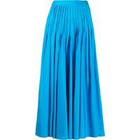 Roksanda Midi Pleated Skirt - Azul