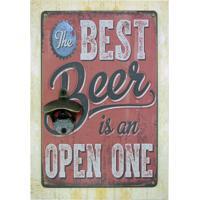 Abridor Kasa Ideia De Garrafa Parede The Best Beer Vermelho