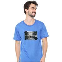 Camiseta Masculina Sandro Clothing Memory Azul Blu