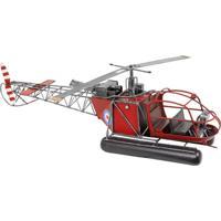 Helicóptero Vermelho Oldway 24X82X19