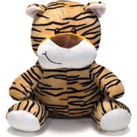 Bicho De Pelúcia Unik Toys 25 Cm Tigre Marrom - Kanui