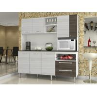 Cozinha Compacta Jade Com Tampo Rovere/Dubai - Kits Paraná
