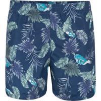 Shorts Azul Leaf