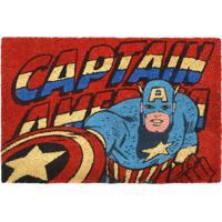 Capacho Capitão América®- Vermelho & Azul- 1,5X61X41Mabruk