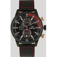 b2809634b40 CEA  Relógio Cronógrafo Philiphh London Masculino - Pl80048612M Preto -  Único