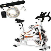 Bike Spinning Oneal Tp1100 Semi Profissional + Cinto De Tração Liveup Ls3662 - Unissex