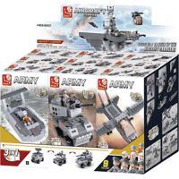 Blocos Para Montar Air Sea Land Forces 9 Em 1 Display Com 9 Peças
