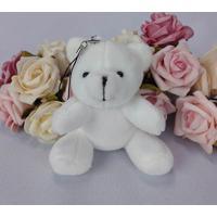 10 Chaveiros Ursinhos - 9Cm Branco